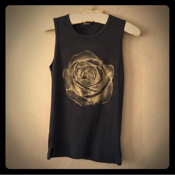 Vintage 90s Arden B Golden Rose Top
